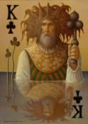 George Underwood (British, b.1947). 'King of Clubs', oil on canvas. Signed and dated 2020,
