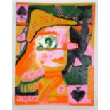 Chris Gilvan-Cartwright (British). 'Jack of Spades'. Acrylic on cardboard. Signed, titled and