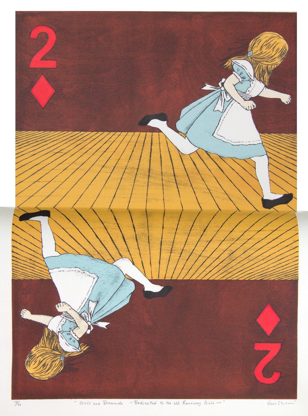 Nana Shiomi RE (Japanese / British, b.1956). 'Two of Diamonds / Girls are Diamonds - Dedicated to
