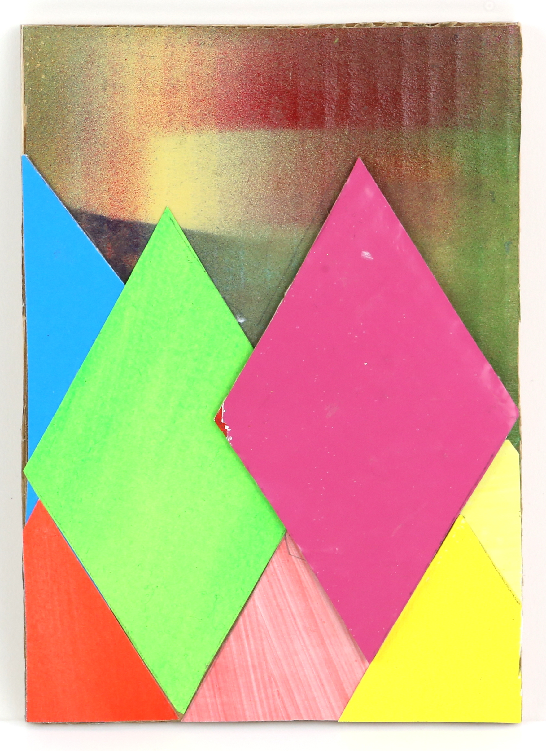 Christine Stark (British). '7 of Diamonds'. Mixed media on board. Signed, titled and dated 2020