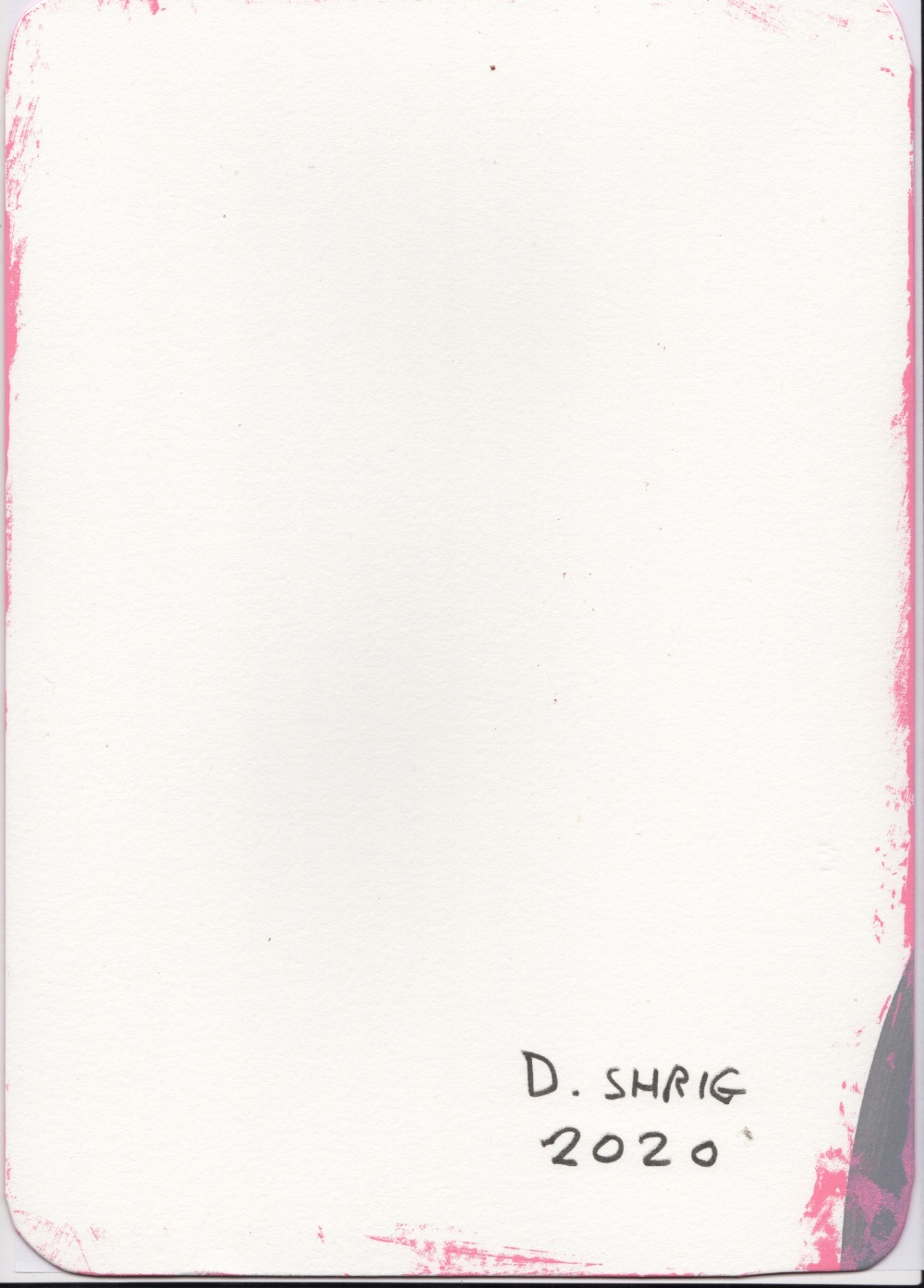 David Shrigley OBE (British, b.1968). 'Ace of Clubs'. Paint on card, signed 'D.Shrig' and dated - Image 2 of 2