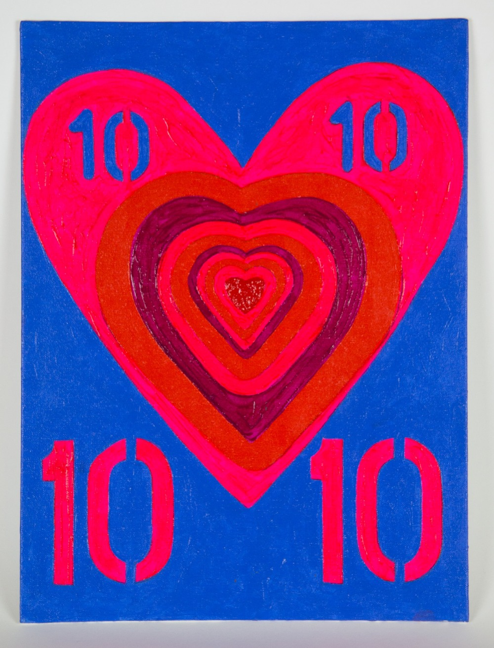 John Nolan (Irish). '10 of Hearts'. Acrylic on board, signed, titled and dated 2020 verso. 45.3 x