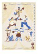 Sonja Burniston (British, b.1994). '6 of Spades / Acrobats'. Limited edition digital print. Signed