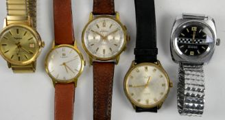 Vintage Timex wristwatch, with a black dial with central checker board detail, dial no.276742573,