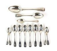 William IV silver set of six dessert spoons, by John Osment, Chester 1836, together with a further