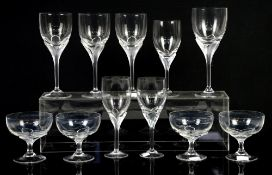 Part set of Rosenthal Studio Line drinking glasses, to include four champagne glasses, and seven
