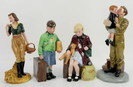 Two limited edition Royal Doulton 'Children of the Blitz' figures, 'The Girl Evacuee' HN3203, no.