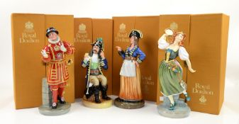 Royal Doulton Gilbert and Sullivan characters: Ruth HN2900, The Pirate King HN2901, Colonel