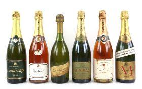 One bottle of Marc de Champagne Moet & Chandon 70cl, one bottle of Oudinot Cuvée Rosé Brut