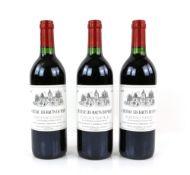 Twelve bottles of Chateau Les Hauts De Perey Bordeaux Superieur 1998 vintage (12)