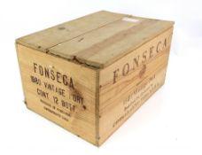 12 bottle of Fonseca 1980 Vintage Port, bottle in Oporto by Guimaraens - Vinhos S.A.R.L., in