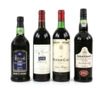 One bottle of Chateau Les Gravieres 1995 Margaux, 75cl, together with one bottle of Mouton-Cadet