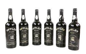 Six bottles of Offley Port Late Bottled Vintage, 1985 vintage, bottled in 1991, specially bottled