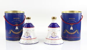 Two Bell's Royal Decanters of Old Scotch Whisky, 1988, to commemorate the birth of Princess