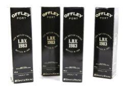 Four bottles of Offley Port Late Bottled Vintage, 1983 vintage, bottled in 1989, specially for Ernst