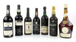Five bottles of Port to include one bottle of Charles Harris 1983 Vintage Port, 75cl, one bottle