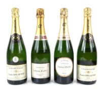 Four bottles of champagne to include Laurent-Perrier La Cuvee Champagne, one bottle of Laurent-