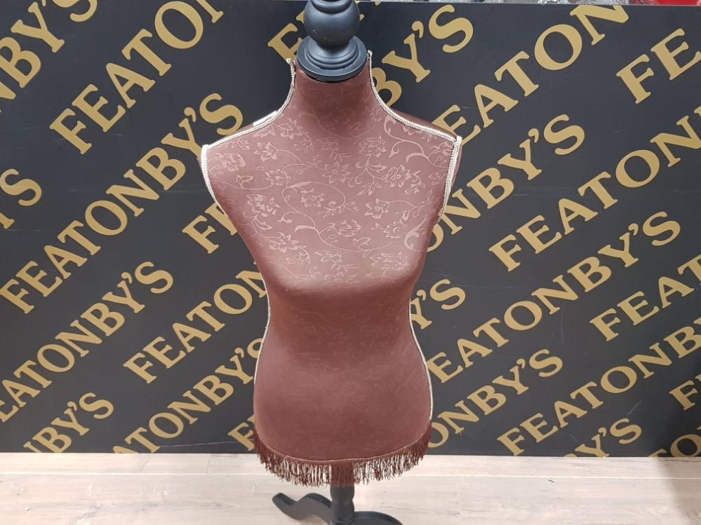 Lot 493 - VINTAGE FRINGED DRESS MAKERS DUMMY