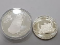 CANADA 20 DOLLARS SILVER PROOF COIN DATED 1987, OLYMPIC CALGARY BOBSLEIGH IN ORIGINAL CASE-1983