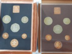 2 UK PROOF SETS 1974 X6 AND 1971 X6 COINS IN ORIGINAL PACKING MINT AND SEALED C.O.A