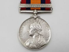 VICTORIAN PERIOD, SOUTH AFRICA MEDAL WITH ORANGE FREE STATE BAR, UNNAMED