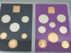 2 SETS OF COINS 1970 ROYAL MINT PROOF SET £SD X8 PRE DECIMAL IN ORIGINAL PACK AND 1971 ROYAL MINT