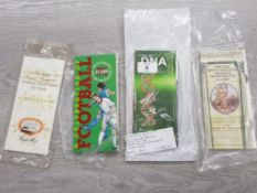 4 2 POUND PACKS UNC 1994 BANK OF ENGLAND, 1996 FOOTBALL, 1989 BILL OF RIGHTS (TWO) AND 2003 DNA