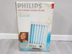 BOXED PHILIPS UVA COMPACT STUDIO HP 3205 TANNING MACHINE