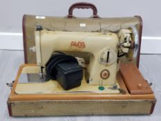 VINTAGE ALFA DELUXE SEWING MACHINE IN CARRY CASE