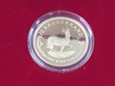 GOLD COIN 1986 1/2 OZ KRUGERRAND PROOF EDITION IN PRESENTATION BOX