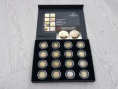 COINS UK 50P 40TH ANNIVERSARY PROOF PRESTIGE SET OF 16 COINS INC KEW GARDENS 1992/93 COUNCIL OF