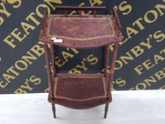 SIDE TABLE WITH MAHOGANY EFFECT