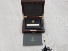GOLD COINS EAST INDIA COMPANY 2014 GOLD 2014 HALF MOHUR 5.83G (PURE) SUPERB PROOF IN PLUSH