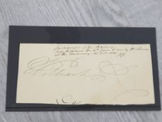 ROYALTY KING WILLIAM IV 1765-1837 KING OF ENGLAND COMPLETE SIGNATURE