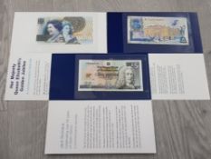 BANKNOTES ROYAL BANK OF SCOTLAND COMMEMORATIVE £5 NOTED (3 DIFFERENT) TO COMMEMORATE THE 2002 GOLDEN