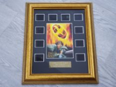 LORD OF THE RINGS THE TWO TOWERS MINI MONTAGE ORIGINAL 35MM CINEMA FILM FRAMED WITH CERTIFICATE