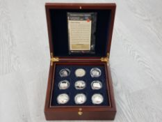 COINS THE ROUTE TO VICTORY COLLECTION OF 17 STERLING SILVER COINS EACH 28.28GR ALL SILVER PROOF WITH