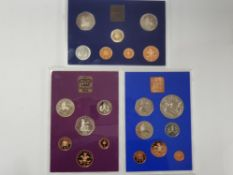 3 COINAGE OF GREAT BRITAIN AND NORTHERN IRELAND PROOF SETS, ALL IN ORIGINAL CASES DATED 1977,1980,