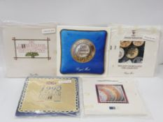 5 ROYAL MINT UNCIRCULATED COIN YEAR SETS FOR 1987 TO 1991 COMPLETE SETS IN PACKS
