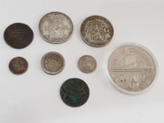 NETHERLANDS MIXED COINS INCLUDING DUITST PLUS OLD SILVER COINS