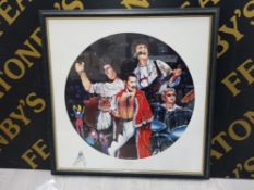 QUEEN PICTURE BY TREVOR HORSWELL DATED 1995, SIGNED