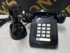 WILD AND WOLF SCANDI PHONE TOGETHER WITH GEEMARC PARK LANE RETRO STYLE TWO PIECE CORDED TELEPHONE