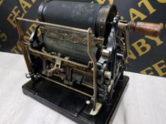 VINTAGE GESTETNES ROTARY PRINTING MACHINE WITH ORIGINAL CARRY CASE