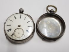 800 STANDARD SILVER CASE AND CRYSTAL TOGETHER WITH A HALLMARKED SILVER CASED MOVEMENT MARKED FOR