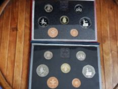 2 ROYAL MINT UK 1987 AND 1988 PROOF YEAR SETS COMPLETE IN ORIGINAL CASES WITH CERTIFICATES