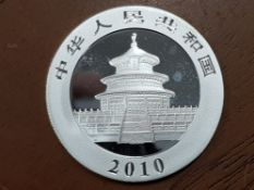 CHINA 2010 SILVER PROOF 1 OUNCE PANDA COIN