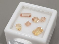 3.44 CARATS HIGH QUALITY YELLOW/ORANGE IMPERIAL TOPAZ MIXED CUTS