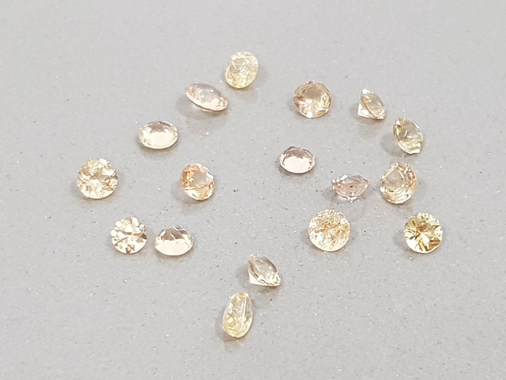 4.58 CARATS HIGH QUALITY YELLOW/ORANGE IMPERIAL TOPAZ MIXED CUTS