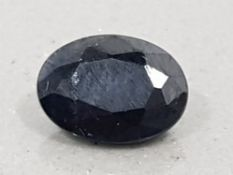 1.75 CARATS BLUE SAPPHIRE LARGE OVAL CUT