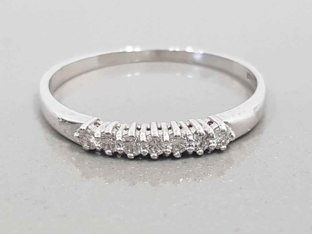 18CT WHITE GOLD DIAMOND ETERNITY RING 2G SIZE T1/2